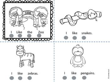 I Like Zoo Animals Emergent Reader