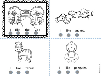 I Like Zoo Animals Emergent Reader
