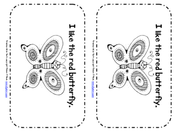I Like the Butterfly: A Color Word Book