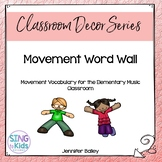 I Like to Move It: Movement Word Wall