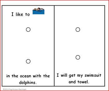 Interactive Book: I Like to Swim