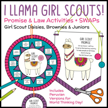 photograph relating to Girl Scout Promise and Law Printable named I Llama Woman Scouts! - Guarantee Legislation Things to do - Daisies, Brownies  Juniors