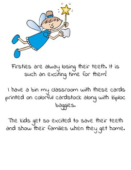 I Lost A Tooth! Cards