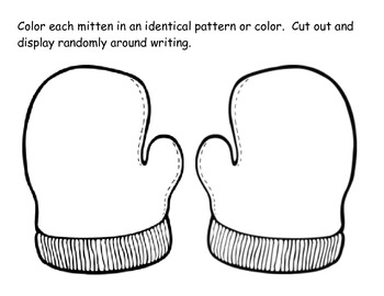 I Lost My Mitten Descriptive Writing and Symmetry