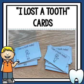 I Lost a Tooth Cards for Students