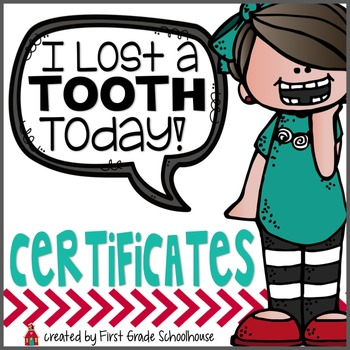 I Lost a Tooth Certificates