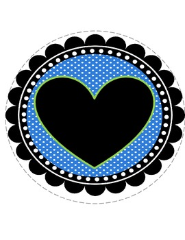 I Love 1st Grade Banner- Blue and Green Polka Dot Theme