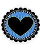 I Love 1st Grade Banner- Blue and Green Polka Dot Theme