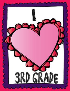 I Love 3rd Grade Poster