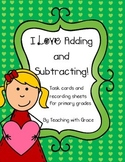 I Love Adding and Subtracting: Valentine Themed Math Activity #celebrate2018