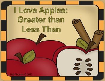 I Love Apples (Greater Than 10, Less Than 10, Equal To 10)