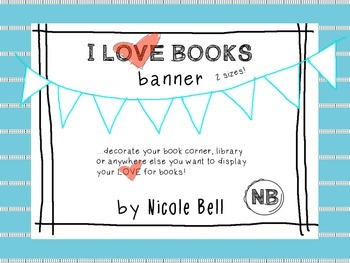 I Love Books Banner