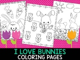 I Love Bunnies and Birthday Party Coloring Pages - The Crayon Crowd