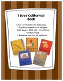 I Love California! Theme Book for Students to Make