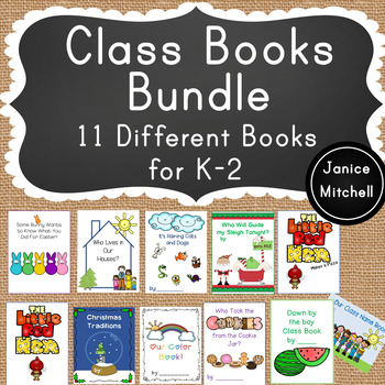 Class Books Bundle 11 Books for K-2