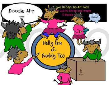 I Love Daddy Clipart Pack