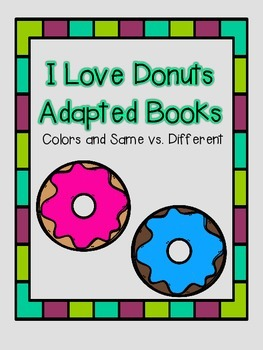 I Love Donuts Adapted Books