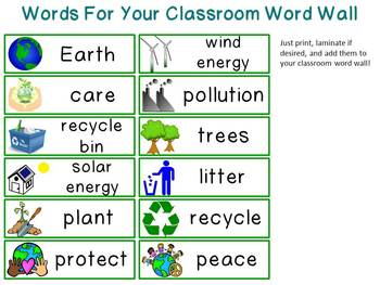 I Love Earth! Mini-Word Wall Activity Pack