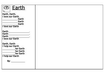 I Love Earth poetry frame in English and Spanish
