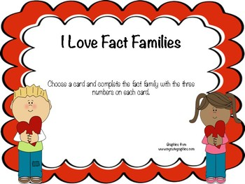 I Love Fact Families