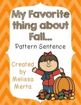 I Love Fall Pattern Sentence
