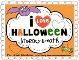 Halloween Literacy and Math Activities and Centers
