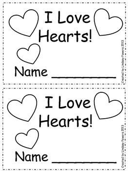 I Love Hearts – Emergent Reader for Valentine's Day