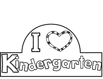 I Love Kindergarten Hat