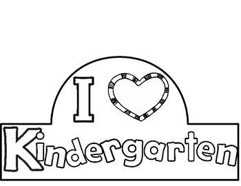 I Love Kindergarten Hat