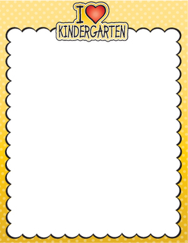 I Love Kindergarten Stationery **FREEBIE**