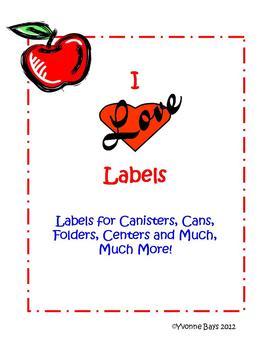 I Love Labels