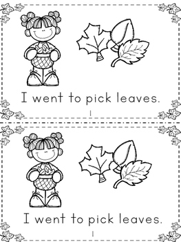 I Love Leaves Mini Book