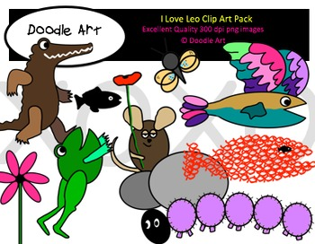 I Love Leo Clipart Collection
