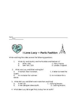 I Love Lucy Paris Fahion
