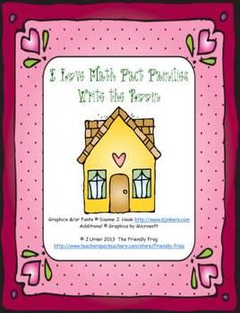I Love Math Fact Families: Write the Room