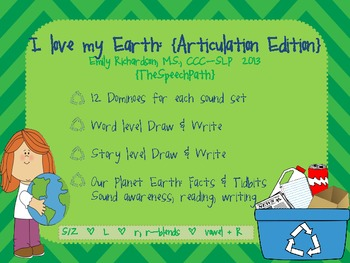 I Love My Earth {Articulation Edition}