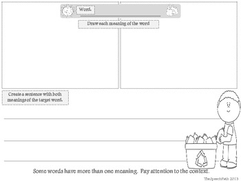 Multiple Meaning Words - Graphic Organizer Freebie by Lisa Gerardi