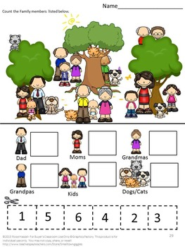 Family,Cut and Paste Activities,Grandparents,Special Education,Preschool