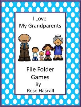 Grandparents,File Folder Games, Special Education, File Folder Games Preschool