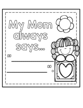 I Love My Mom- Mother's Day Book