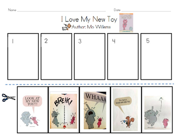 I Love My New Toy - Mo Willems (Sequence/Retelling)