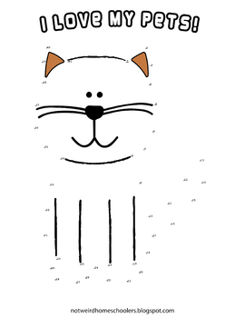 I Love My Pets! Connect-the-Dots Funsheet
