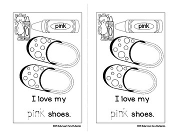 I Love My Shoes-SIGHT WORD Emergent Reader w/ worksheets -Focus Words: my love
