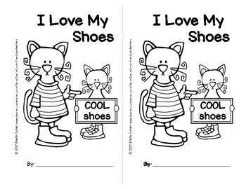 Pete the Cat- I Love My Shoes-SIGHT WORD Reader w/ worksheets