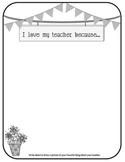 I Love My Teacher - Teacher Appreciation Week