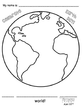 I Love My World - Art & Writing Project for Earth Day