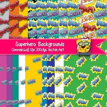 Superhero Background Papers clip art
