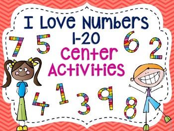 I Love Numbers 1-20 Center Activities