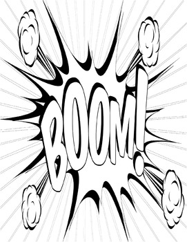 I Love Onomatopoeia! Literacy Coloring Book