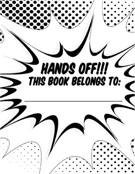 I Love Onomatopoeia! Comic Coloring Book P1-10 FREE Sampler